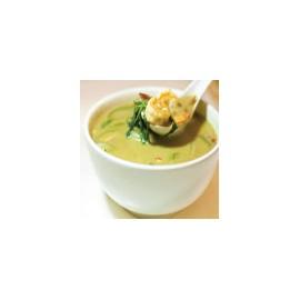 Gambas con curry verde