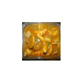 Langostinos con salsa curry