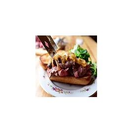 Beef and Caramelized Onion Toast