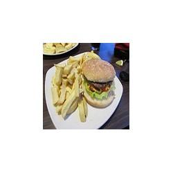 Irish beef burger and chips