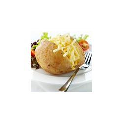 Jacket potato with cheese filling