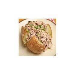 Jacket potato with tuna filling