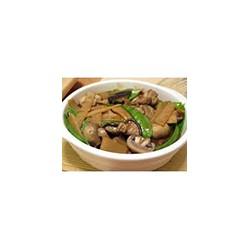 Chicken with bamboo shoots and Chinese mushrooms