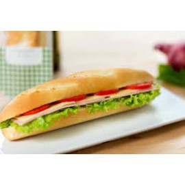 Cheese and Ham Baguette with Extras