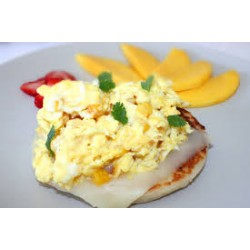Arepa with Scrambled Eggs